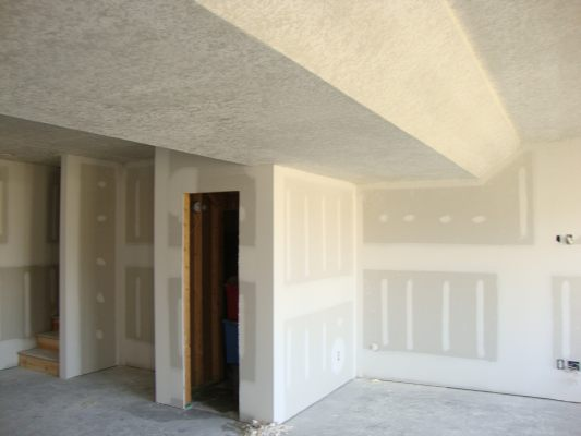 Basement Drywall With Knockdown Texture
