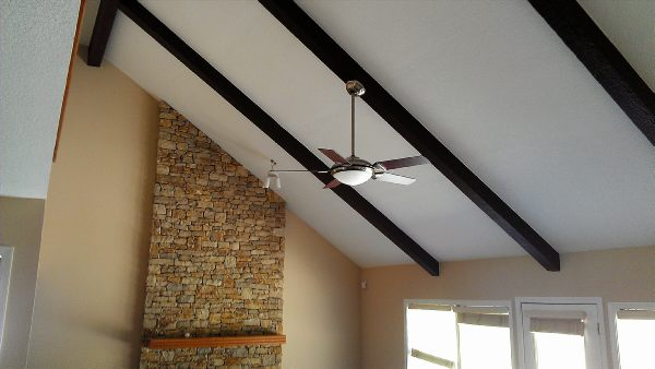 Kansas city 39 s residential interior painting specialist - Painting wood beams on ceiling ...
