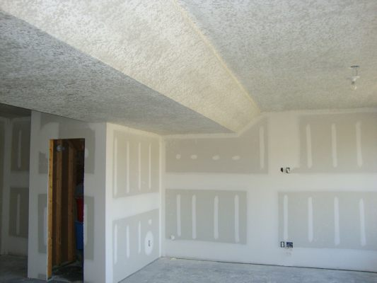 Knockdown Spayed Basement Ceiling - Beautiful Textured Ceilings And Walls (BDS) Brian's Drywall Services