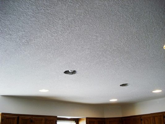 Thick Knockdown Sprayed Ceiling - Beautiful Textured Ceilings And Walls (BDS) Brian's Drywall Services